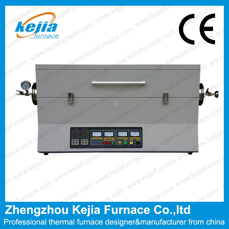 1600℃ Two-Zone Vacuum Tube Furnace