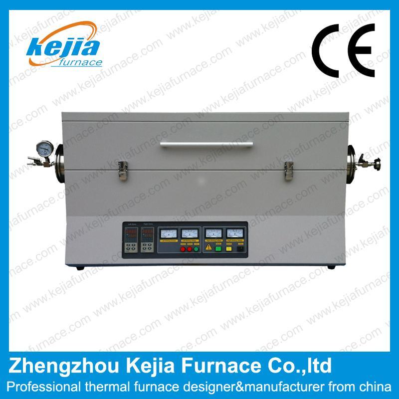 1600℃ Two-Zone Vacuum Tube Furnace