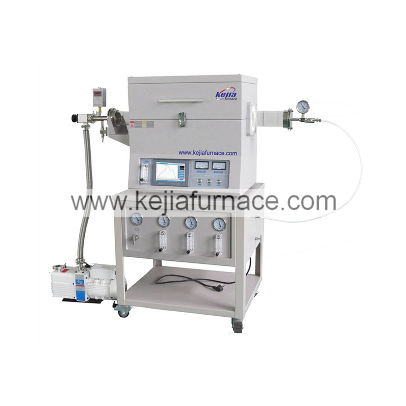 1200℃ single heating zone CVD system with 3 gas channels