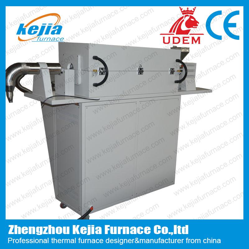 Large caliber tube furnace